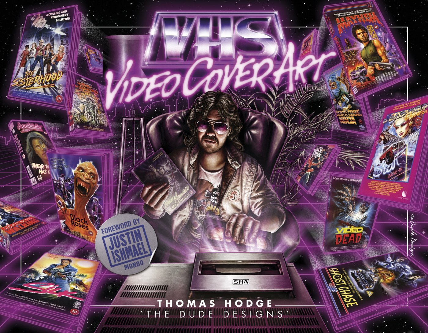 vhs video cover art por thomas hodge