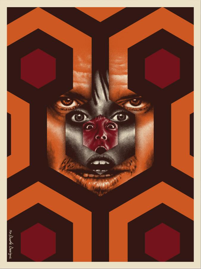 nuevo poster de El Resplandor por The Dude Designs